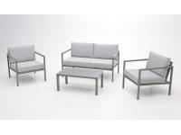 Set sofa de terraza Paros aluminio gris
