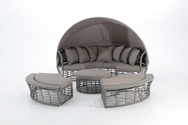 Cama lounge rattan Sol