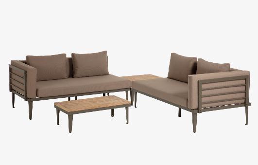 Set Paradise de 2 sofás, mesa de centro y mesa auxiliar