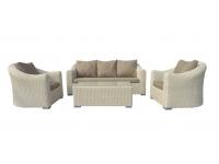 Set sofas rattan blanco Navarra 5 plazas