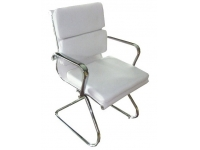 Silla confidente Aluminium Soft blanco