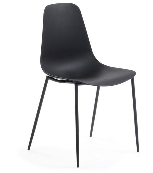 Silla metal plastico negro Easy