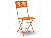 Silla jardin plegable hierro Gala naranja