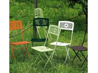 Silla jardin plegable hierro Gala Verde Bosque