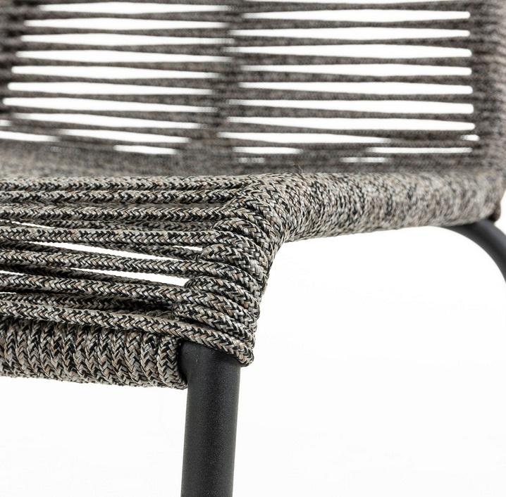 Silla Kitch cuerda gris