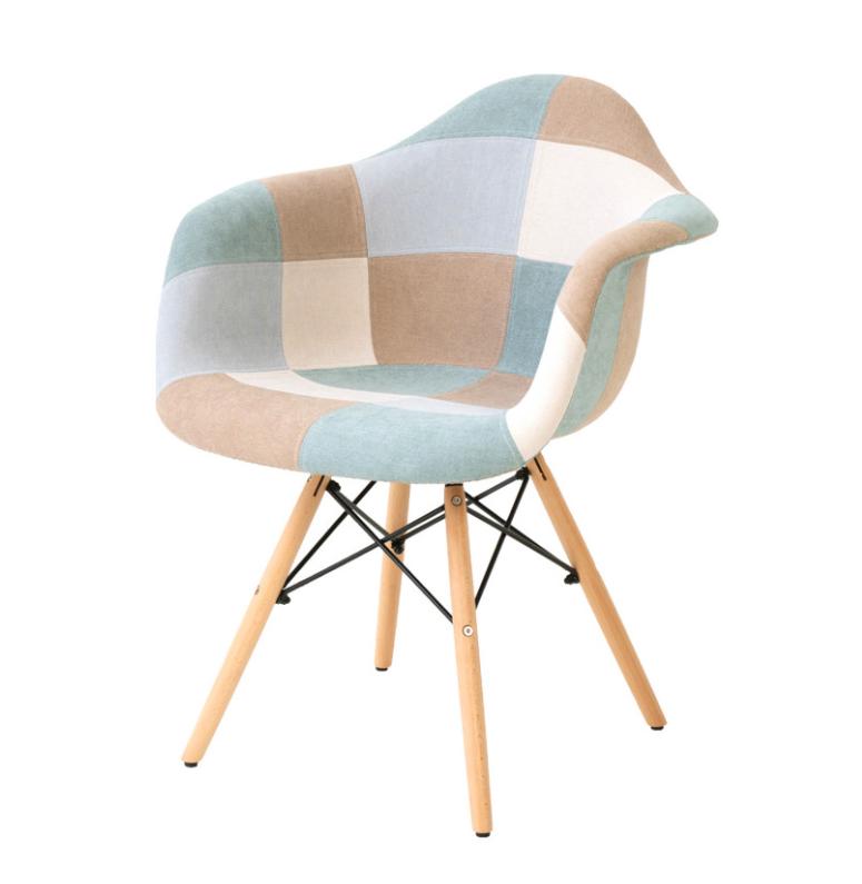 Silla patchwork tipo sillón Sofie azul