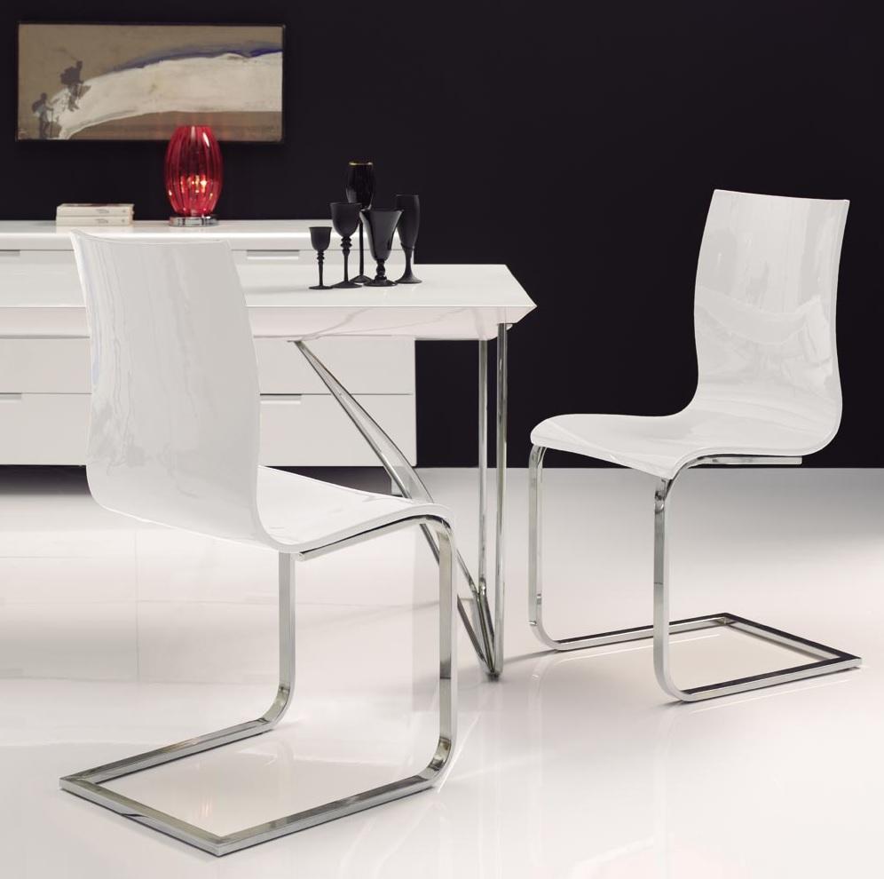 silla blanco brillo CH-1003