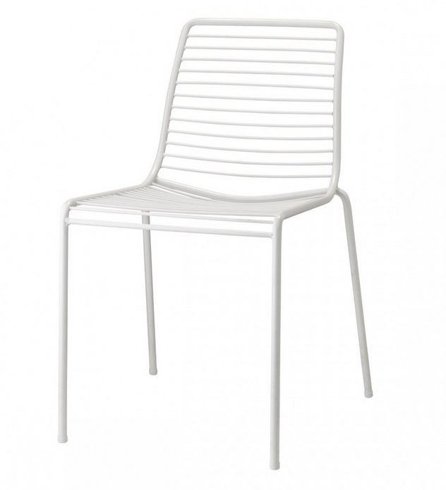 Silla summer metal blanco