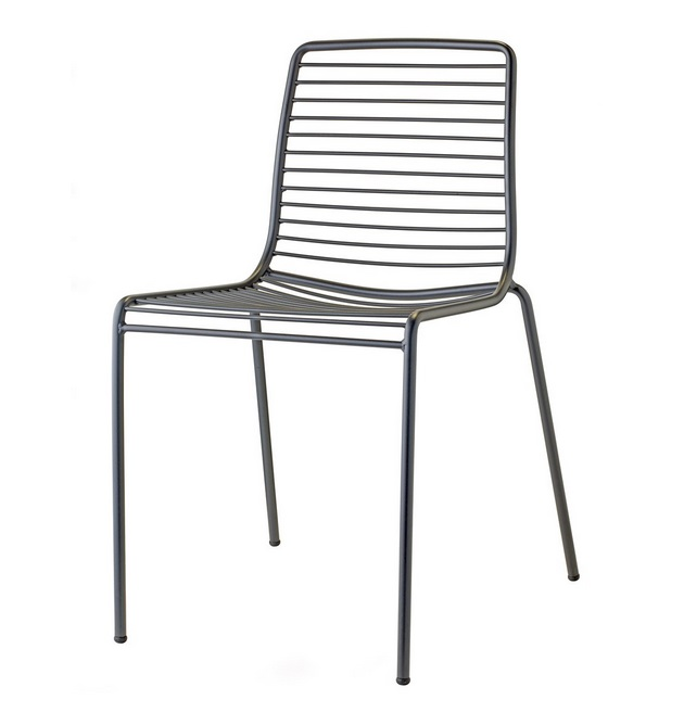 Silla summer metal gris antracita
