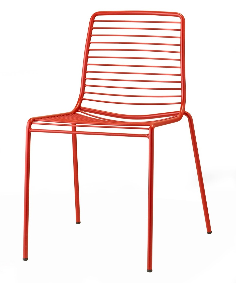 Silla summer metal rojo