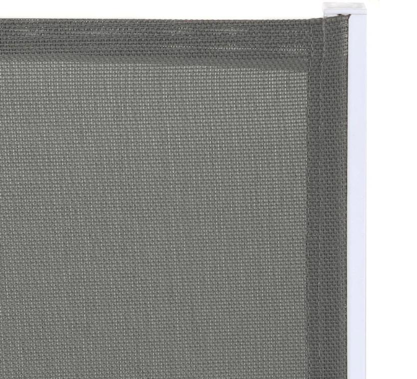 Silla Thais apilable aluminio textileno blanco gris