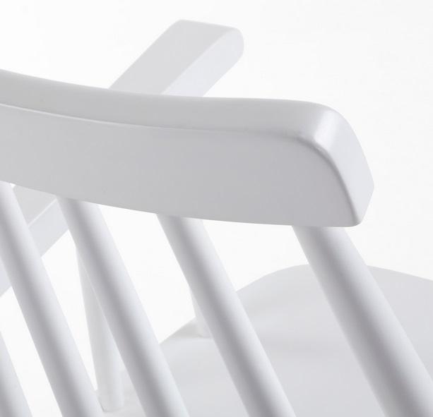 Silla windsor brazos madera blanca