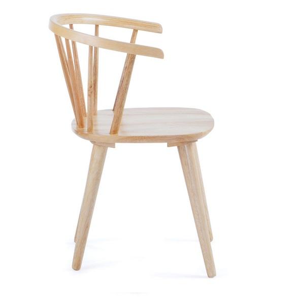 Silla windsor curva madera natural