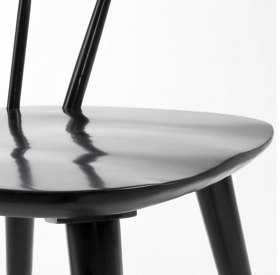 Silla windsor curva madera negro