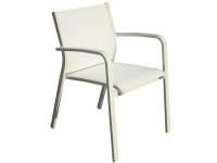 Silla aluminio textilene blanco Faro