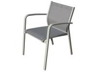 Silla aluminio textilene gris Faro