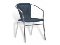 Sillon curvo aluminio trenzado Azul