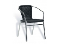 Sillon curvo aluminio trenzado Negro