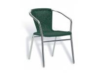 Sillon curvo aluminio trenzado verde