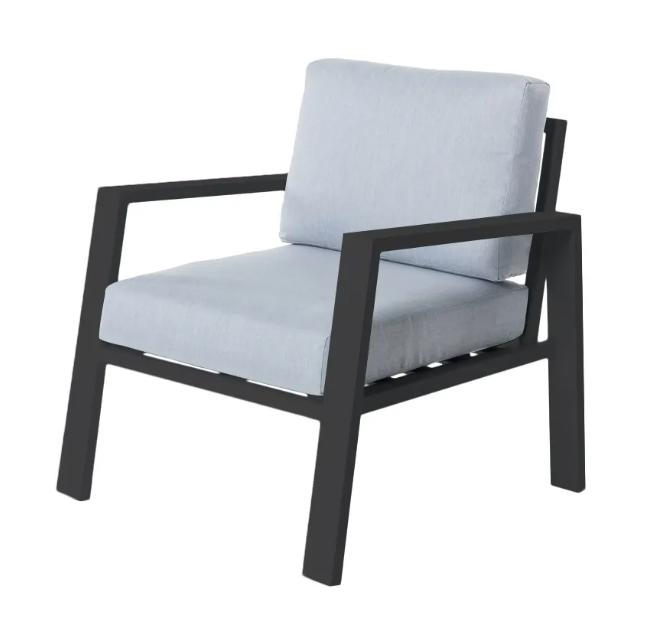 Sofa 1 plaza Thais aluminio negro