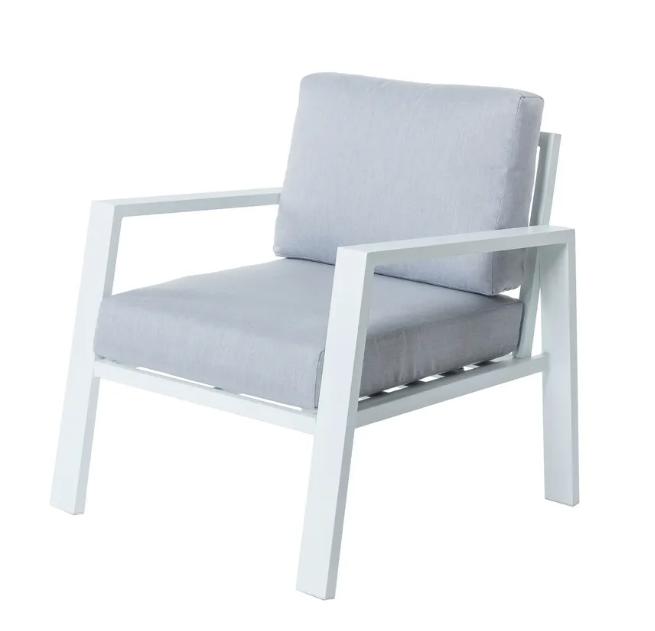 Sofa 1 plaza Thais aluminio blanco