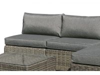 Sofa central lounge rattan gris Maui