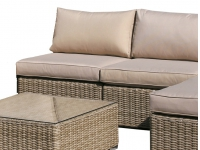 Sofa central lounge rattan natural Kaui