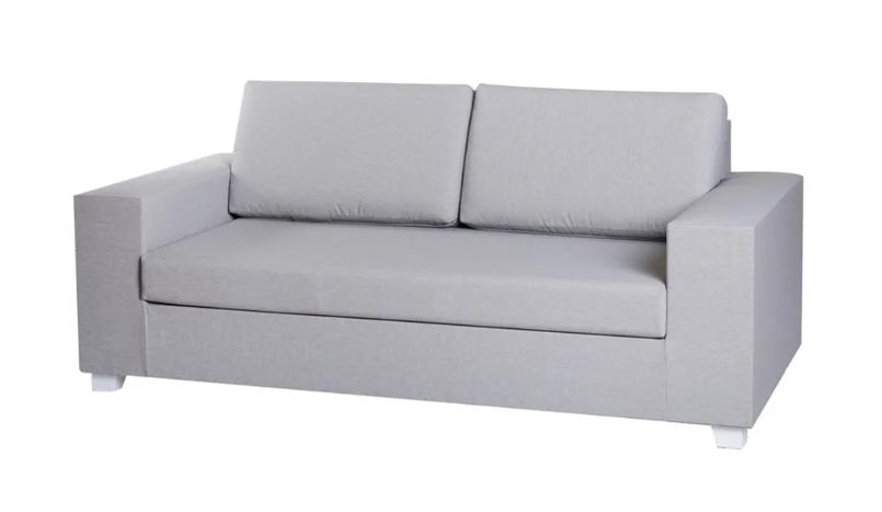 Sofa 2 plazas IO aluminio gris