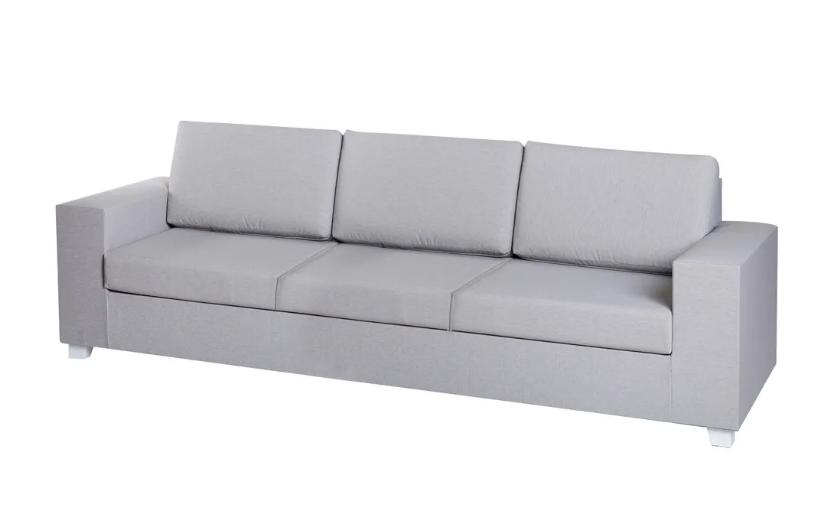 Sofa 3 plazas IO aluminio gris