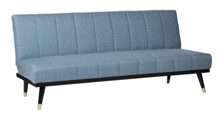 Sofa cama Madrid  tapizado en color azul 3 plazas