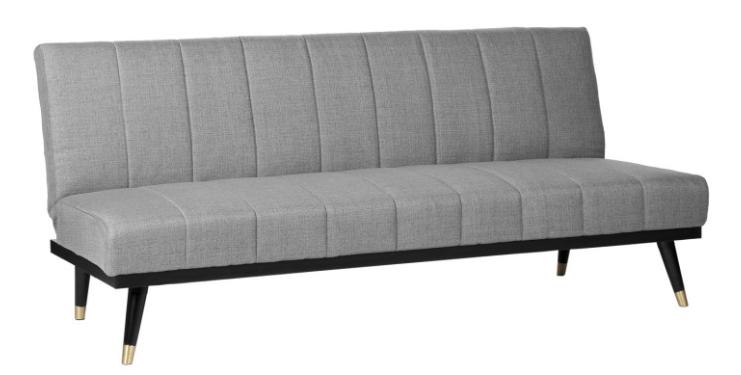 Sofa cama Madrid  tapizado en color gris 3 plazas