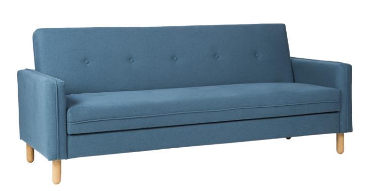 Sofa cama DELHI  tapizado en color azul