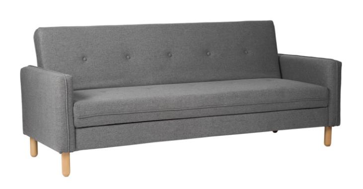 Sofa cama DELHI  tapizado en color gris