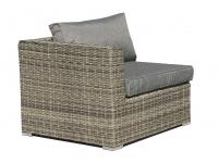 Sofa esquinero lounge rattan gris Maui
