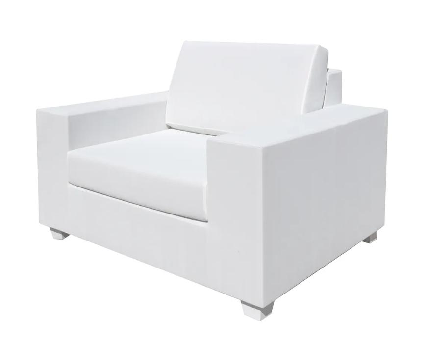 Sofa 1 plaza IO aluminio blanco