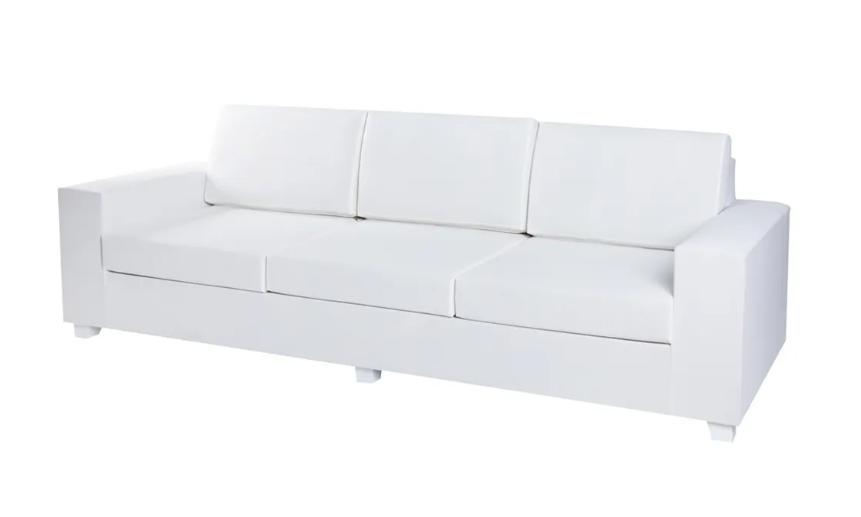 Sofa 3 plazas IO aluminio blanco