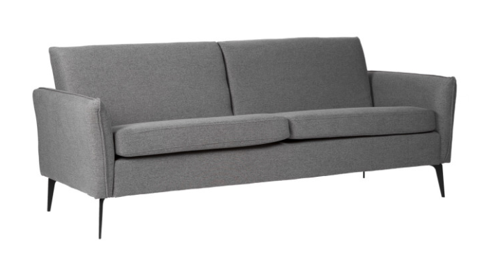 Sofa New York  tapizado en color gris oscuro