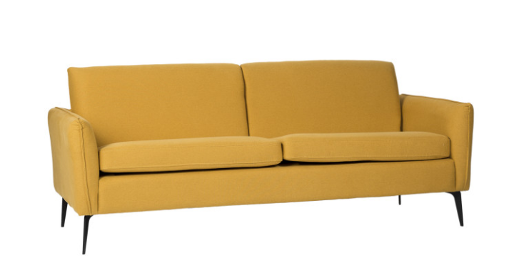 Sofa New York  tapizado en color mostaza