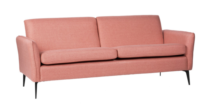 Sofa New York  tapizado en color rose