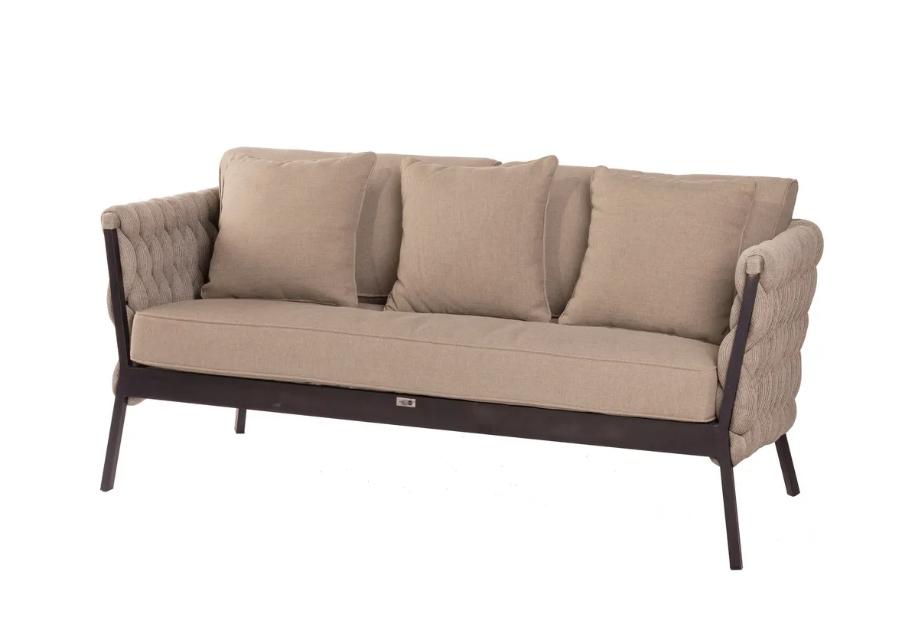 Sofa de terraza Rebecca aluminio 176x83x74 cm