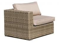 Sofa esquinero lounge rattan natural Kaui