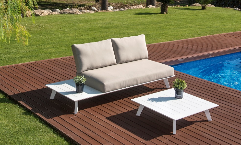 Set sofa positano 2 plazas con mesa de centro