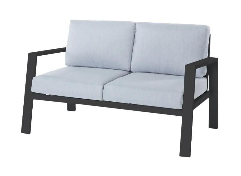 Sofa 2 plazas Thais aluminio negro