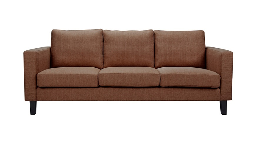 Sofa 3 plazas tela marron Eco