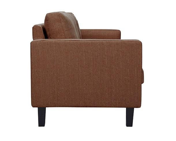 Sofa 3 plazas tela marron Eco