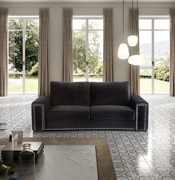 Sofa terciopelo Tachuelas 100