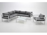 Modular de terraza Creta aluminio blanco