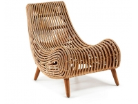 Sillon rattan natural curvo
