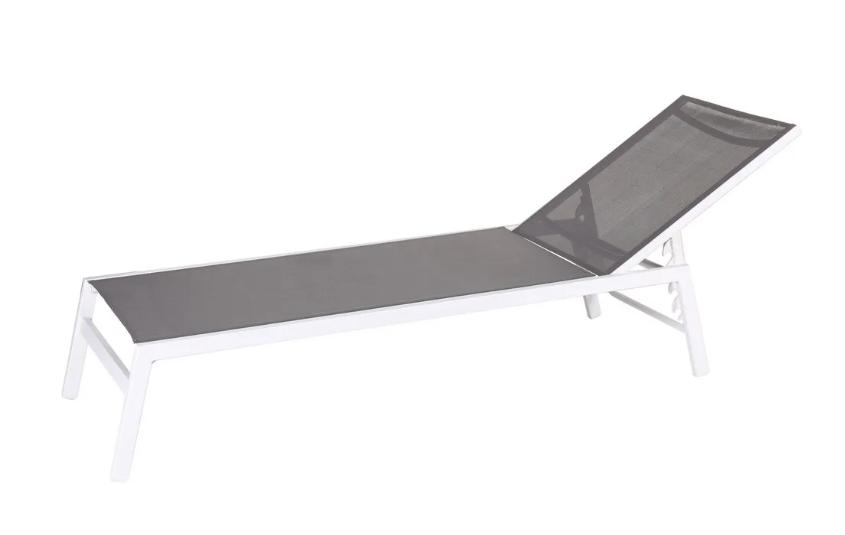 Tumbona Thais aluminio blanco gris