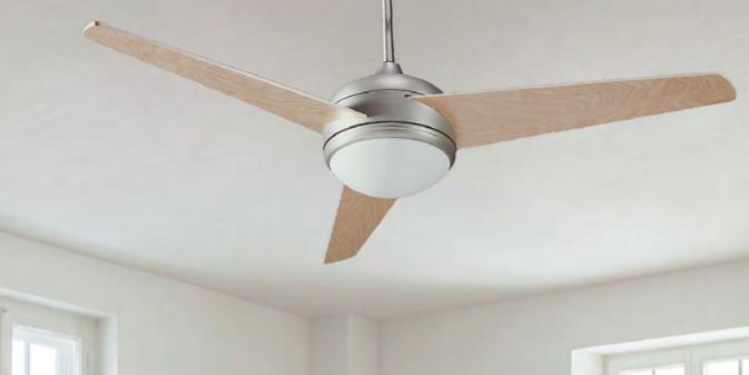 Ventilador de techo con luz Blair niquel satinado